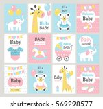 Set Of Baby Shower Cards....