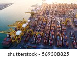 container container ship in... | Shutterstock . vector #569308825