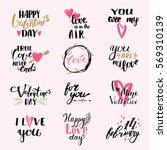 i love you phrases valentine... | Shutterstock .eps vector #569310139