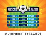 vector of soccer league with... | Shutterstock .eps vector #569313505