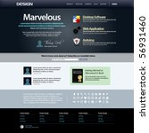 website web design elements...   Shutterstock .eps vector #56931460