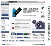 website web design elements...   Shutterstock .eps vector #56931469