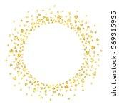 golden splash or glittering... | Shutterstock .eps vector #569315935