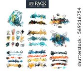 pack of scribble art elements.... | Shutterstock .eps vector #569316754