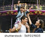 family holiday vacation... | Shutterstock . vector #569319835