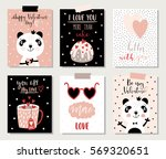 love collection with 6 cards... | Shutterstock .eps vector #569320651