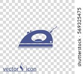 steam iron. electrical iron... | Shutterstock .eps vector #569325475