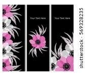 vector illustration. floral... | Shutterstock .eps vector #569328235