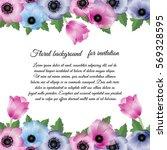 vector illustration. floral... | Shutterstock .eps vector #569328595
