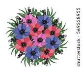vector illustration. floral... | Shutterstock .eps vector #569328955