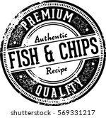 vintage fish   chips menu... | Shutterstock .eps vector #569331217