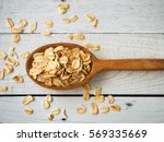 old fashioned rolled oats in... | Shutterstock . vector #569335669