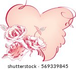 rose bouquet  heart | Shutterstock .eps vector #569339845