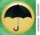 umbrella icon flat design