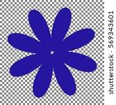 flower sign illustration. blue...