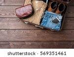 travel preparations concept... | Shutterstock . vector #569351461