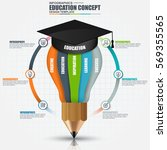 education infographic data... | Shutterstock .eps vector #569355565
