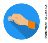hand holding coin for parking... | Shutterstock .eps vector #569356465