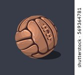 old fashioned soccer football... | Shutterstock .eps vector #569364781