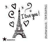 valentine's day. illustration... | Shutterstock .eps vector #569364961