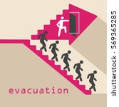 evacuation  emergency  stairs ... | Shutterstock .eps vector #569365285