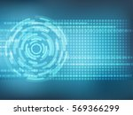 cyber security concept  on... | Shutterstock .eps vector #569366299