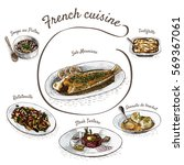 french menu colorful... | Shutterstock .eps vector #569367061