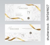 set of stylish gift voucher... | Shutterstock .eps vector #569369827