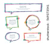 vector set of quote blank... | Shutterstock .eps vector #569373541