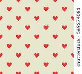 hearts seamless pattern... | Shutterstock .eps vector #569374081