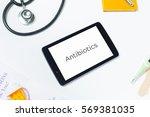 slanted shot of doctors tablet...   Shutterstock . vector #569381035