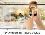touch screen smart phone on...   Shutterstock . vector #569384239