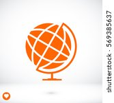 globe icon  vector best flat... | Shutterstock .eps vector #569385637