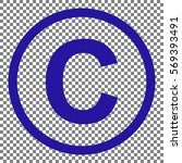 copyright sign illustration.... | Shutterstock .eps vector #569393491