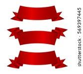 horizontal red banners vector... | Shutterstock .eps vector #569397445