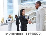 a diverse business man and... | Shutterstock . vector #56940070