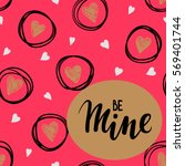 Be Mine Hand Drawn Lettering O...