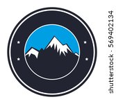 mountain emblem isolated icon | Shutterstock .eps vector #569402134
