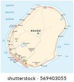 vector road map of the republic ... | Shutterstock .eps vector #569403055