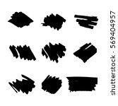 permanent marker. dry paint... | Shutterstock .eps vector #569404957