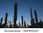 silhouette of construction... | Shutterstock . vector #569405107