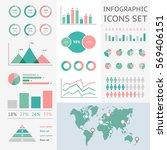 world map infographic. vector... | Shutterstock .eps vector #569406151