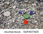 Sea Smooth Stones  Pebbles Wit...