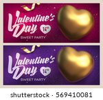 happy valentine's day banners.... | Shutterstock .eps vector #569410081