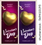 happy valentine's day banners.... | Shutterstock .eps vector #569410195