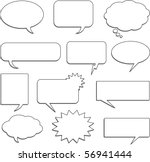 speech bubble collection | Shutterstock .eps vector #56941444