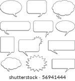speech bubble collection | Shutterstock .eps vector #56941444