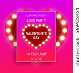 valentines day party poster...   Shutterstock .eps vector #569423431