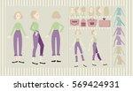 girl for animation   Shutterstock .eps vector #569424931