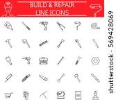 build   repair line pictograms...
